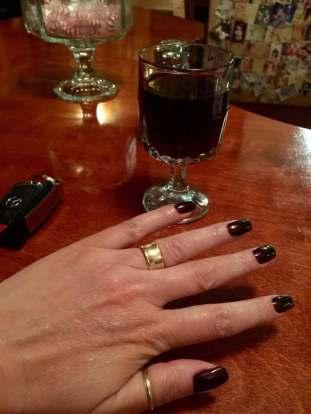 "Shellac on natural nails- CND Shellac ""Lava"" color"
