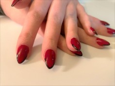 Decadence Red with Black Striped Tips